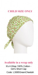 L3085 Green Cheetah Short Cap