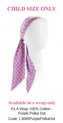 L3086 Purple Polka Dot