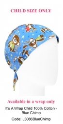 L3085 Blue Chimp Short Cap